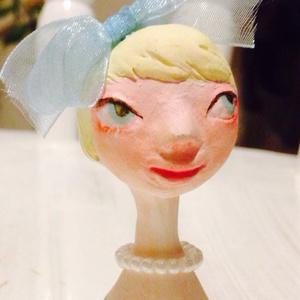 小さい人形 リボン