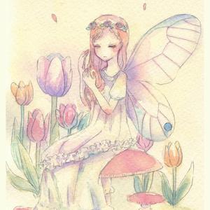 童話ポストカード 妖精