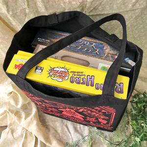 チョークアート風ボードゲームバッグ(ブラック)