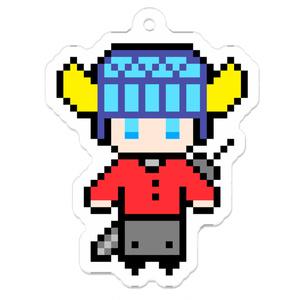RPG戦士風ドット絵アクリルキーホルダー