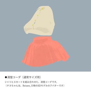 【チヨちゃん専用】スキニング済み清楚コーデ