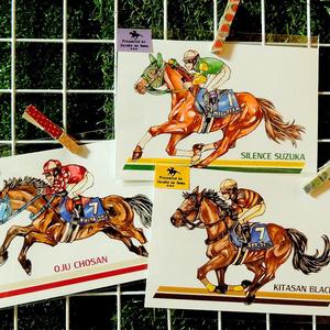 ポストカード 競走馬