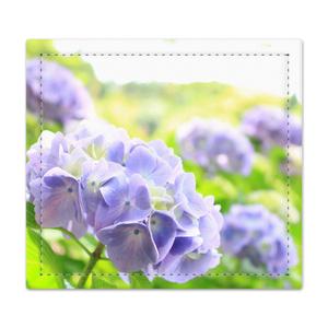 陽の中の紫陽花 捺印マット