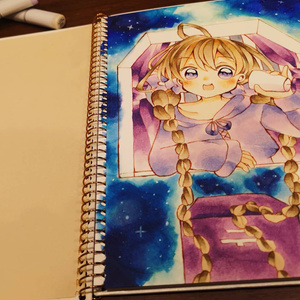 夜空の魔法 A5サイズ原画