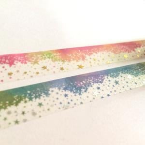 「箔押しタイプ」star*wishes_day&nightマスキングテープ
