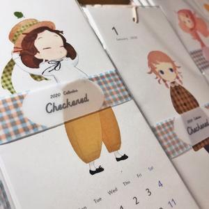 2020年カレンダー「Checkered」※12月以降発送