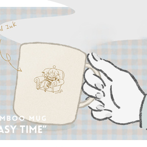 バンブーマグカップ「easy time」