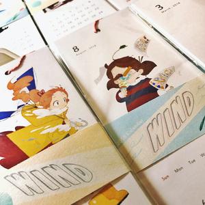 【12月以降発送】2018年カレンダー「WIND」