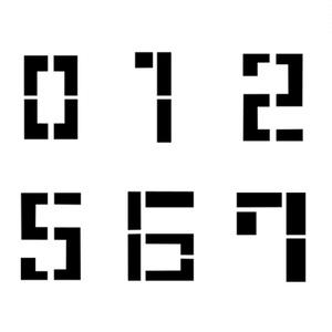 【テクスチャ】デカール_メカっぽいフォント数字セット【主に3Dモデル用】