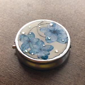 【創作】紫陽花のピルケース