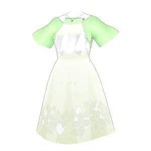 Saku*saku 雨の日フラワーチュチュワンピセット/Saku*saku Rainy Day Flower Tulle Dress Set