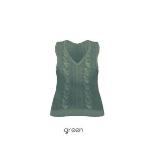 Saku*saku ニットベスト/knit vest