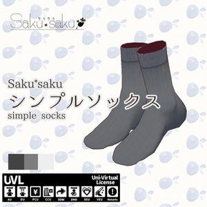 Saku*saku シンプルソックス/simple socks