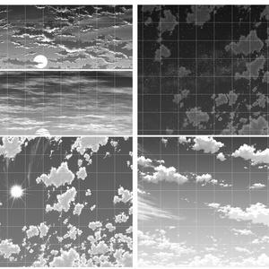 雲仕上済み画像100枚セット
