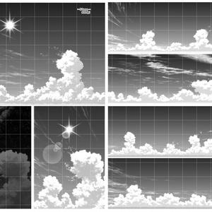 雲フルセット・ブラシ24種&仕上済み画像100枚【19.1.21更新】