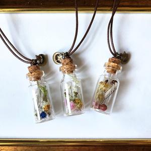 宝物を詰めた小瓶のペンダント