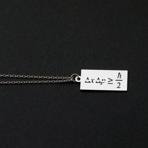 数式プレートネックレス