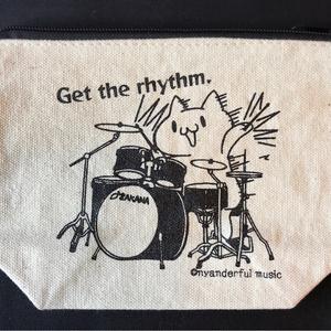 ドラムねこさんポーチ