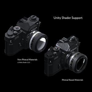 【3Dモデル】フィルムカメラ Nihon FN2【VirtualLens2対応】