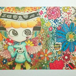 花の天使(ポストカード)