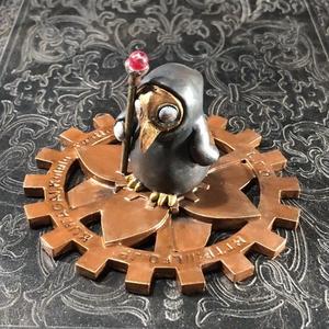 Lotus Flower Disk 歯車台座 8cm (未塗装アイボリー 1枚)