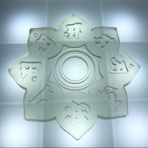 曼荼羅台座 6.5cm  クリア