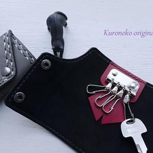 龍田モチーフ 本革手縫いキーケース