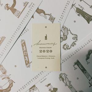 坂本ヒメミ「活版印刷術による数字絵暦」2o20 CALENDAR