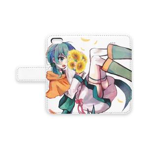 花束エルちゃんiPhoneケース