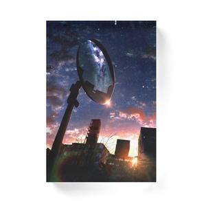 夕鏡の星空アクリルブロック