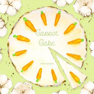 ミニレターセット - にんじんケーキ