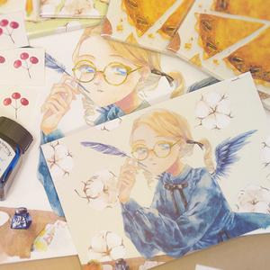 ポストカード - 秋の天使ちゃん