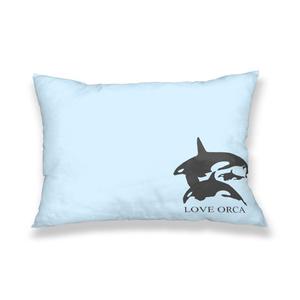LOVE ORCA 枕カバー ブルー