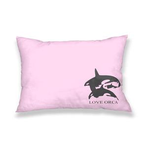 LOVE ORCA 枕カバー ピンク
