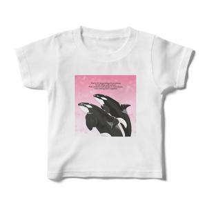 シャチ キッズTシャツ ピンク