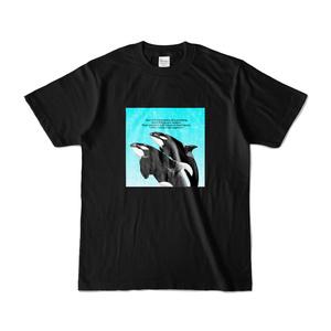シャチ Tシャツ 【ブラック×ブルー】