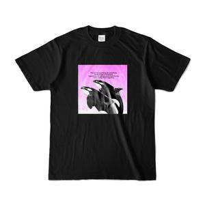 シャチ Tシャツ 【ブラック×ピンク】
