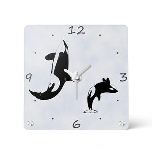 シャチ アクリル時計