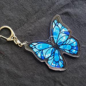 青蝶アクリルキーホルダー
