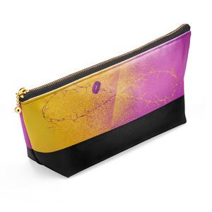 黄&紫 推し色ポーチ(黒)