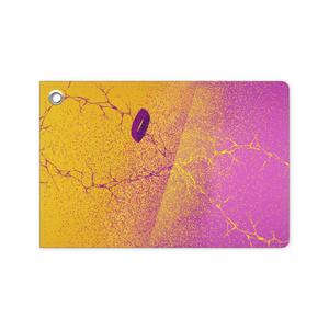 黄×紫 推し色パスケース