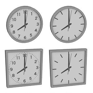 【3D素材】壁掛け時計