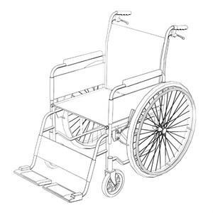 【3D素材】自走式車椅子