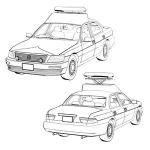 【3D素材】パトロールカー