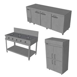 【3D素材】厨房機器セット