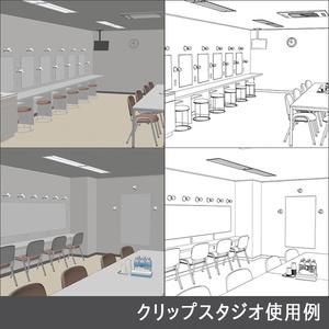 【3D素材】楽屋 小