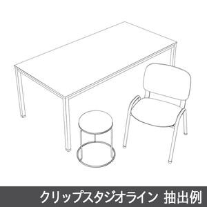 【3D素材】休憩室テーブルセット