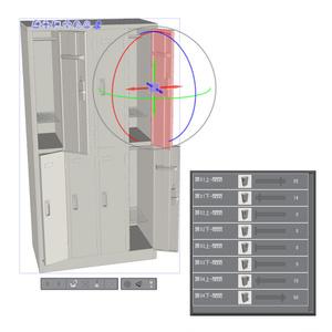 【3D素材】スチールロッカー セット