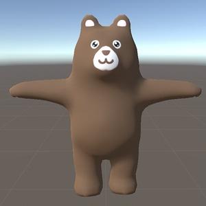 【3Dモデル】Unity用くまさんモデル
