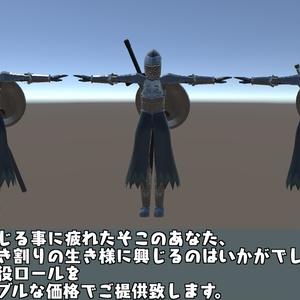 VRChat向け3Dモデル「シンプル騎士団」(2019/03/29「パフォーマンスランクを気にする方向け」追加)